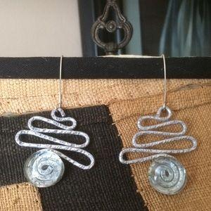 Jewelry - Aluminum swirl earrings